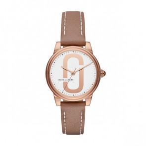 Uhrenarmband Marc by Marc Jacobs MJ1579 Leder Beige 16mm