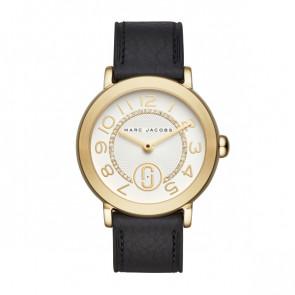 Uhrenarmband Marc by Marc Jacobs MJ1615 Leder Schwarz 18mm