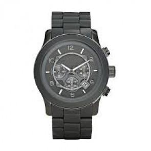 Uhrenarmband Michael Kors MK8148 Stahl/Silikon Anthrazitgrau 24mm