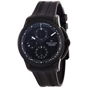 Uhrenarmband Maurice Lacroix PT6188 / ML640-000027 Kautschuk Schwarz