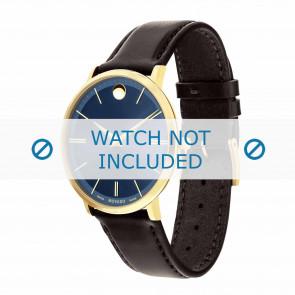 Movado Uhrenarmband 0607088 Leder Dunkelbraun 20mm + standardnähte