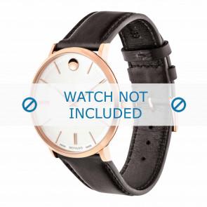 Movado Uhrenarmband 0607089 Leder Dunkelbraun 20mm + standardnähte