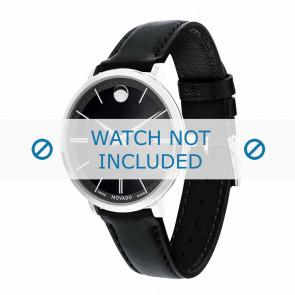 Movado Uhrenarmband 0607090 Leder Schwarz 16mm + standardnähte