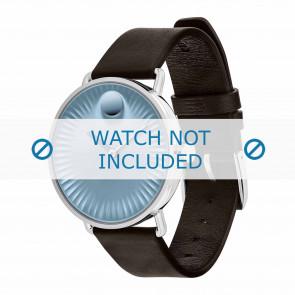 Movado Uhrenarmband 3680040 Leder Dunkelbraun 20mm