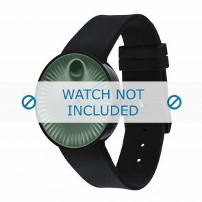 Movado Uhrenarmband 3680041 Silikon Schwarz 22mm