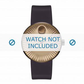 Movado Uhrenarmband 3680043 Silikon Dunkelbraun 22mm