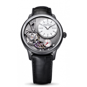 Uhrenarmband Maurice Lacroix Gravity ML550-000256 Krokodilhaut Schwarz