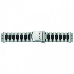 Uhrenarmband für Swatch Stahl schwarz 19mm 1075