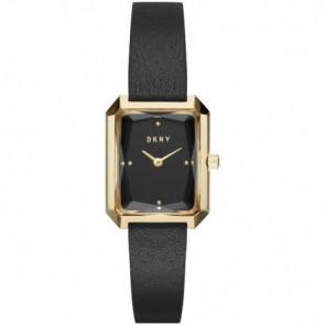Uhrenarmband DKNY NY2644 Leder Schwarz 12mm