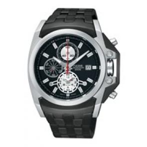 Uhrenarmband Pulsar YM62-X204-PF3843X1 Stahl Schwarz