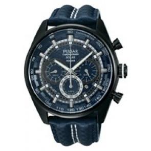 Uhrenarmband Pulsar VS75-X004 / PX5043X1 Leder Blau 24mm