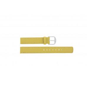 Q&Q Uhrenarmband QQ14LDYGS Leder Gelb 14mm + weiße nähte