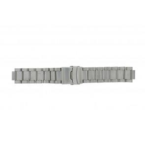 Q&Q Uhrenarmband QQ13ST-ZI-ST Metall Silber 13mm