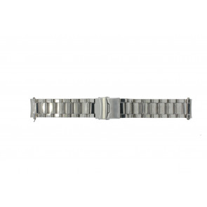 Uhrenarmband QQ22RHSHI Metall Silber 22mm