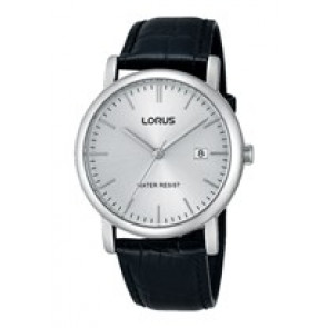 Lorus Uhrenarmband RG839CX9 / VJ32 X246 / RHG008X Leder Schwarz 20mm + schwarzen nähte