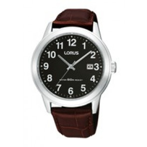 Uhrenarmband Lorus PC32-X019-RH927BX9 Leder Braun 20mm