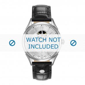 Uhrenarmband Roamer 550661-41-22-05 Leder Schwarz 20mm