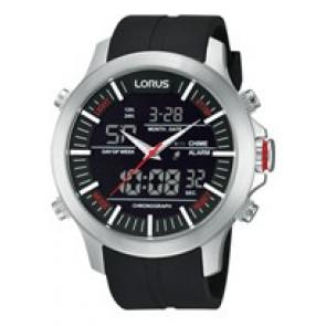 Uhrenarmband Lorus Z021-X002-RW607AX9 Kautschuk Schwarz 21mm
