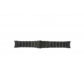 Seiko Uhrenarmband V157-0AS0 Metall Schwarz 22mm