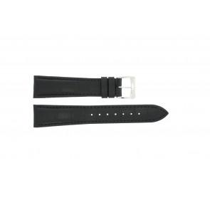 Uhrenarmband Raymond Weil SI1501-BSB-C-2 Krokodilhaut Schwarz 15mm
