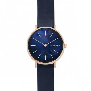 Uhrenarmband Skagen SKW2731 Leder Blau 16mm