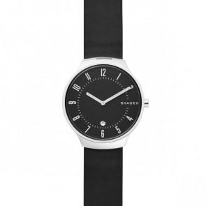 Uhrenarmband Skagen SKW6459 Leder Schwarz 18mm