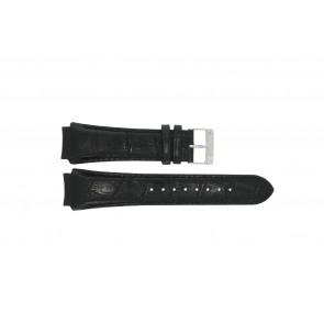 Prisma Uhrenarmband SPECZW21 Leder Schwarz 21mm + schwarzen nähte