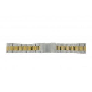 Uhrenarmband Other brand 1014-22-BI Stahl Zweifarbig 22mm