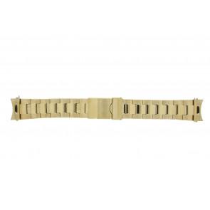 Prisma Uhrenarmband STD22 Metall Gold 22mm