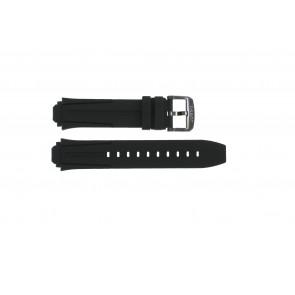 Uhrenarmband Tissot T1114173744103A / T1114173744107A / T603042129 Silikon Schwarz 18mm