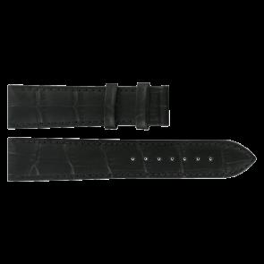 Uhrenarmband Tissot T0636101605800 / T610031945 Leder Schwarz 20mm