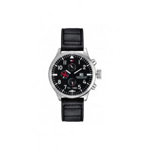 Uhrenarmband Tommy Hilfiger TH-102-1-14-0878 Leder Schwarz 20mm