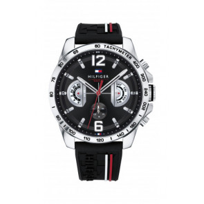 Uhrenarmband Tommy Hilfiger TH-320-1-14-2380 / TH1791473 / TH679302202 Kautschuk Schwarz 22mm