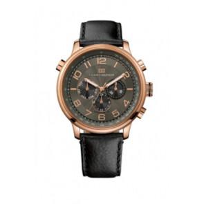 Uhrenarmband Tommy Hilfiger TH.145.1.34.1051 Leder Schwarz