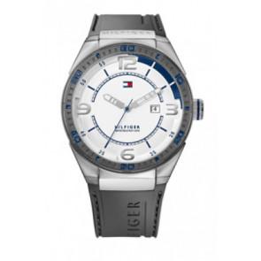 Uhrenarmband Tommy Hilfiger TH12512909 / TH675010692 Kautschuk Grau 21mm