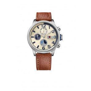 Uhrenarmband Tommy Hilfiger TH-102-1-14-2038 / TH679301952 Leder Cognac 22mm