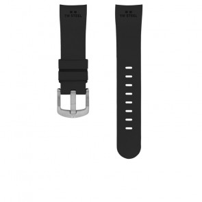TW Steel Uhrenarmband TW100 Gummi Schwarz 24mm