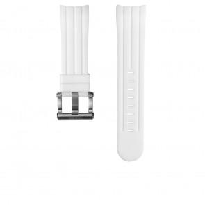 TW Steel Uhrenarmband TW133 Gummi Weiß 24mm