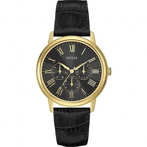 Uhrenarmband Guess W0496G5 Leder Schwarz 20mm