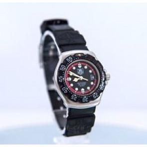 Uhrenarmband Tag Heuer WA1411 Kautschuk Schwarz 15mm