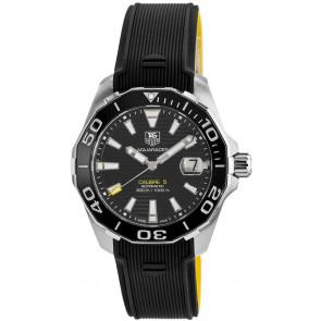 Uhrenarmband Tag Heuer WAY211A / FT6068 Kautschuk Schwarz 21mm