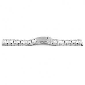 Uhrenarmband YI09 Metall Silber 24mm