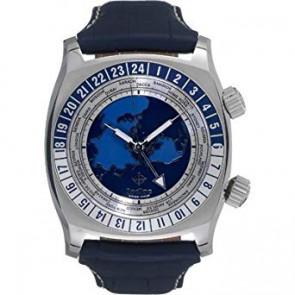 Uhrenarmband Zodiac ZO7000 Leder Blau 26mm