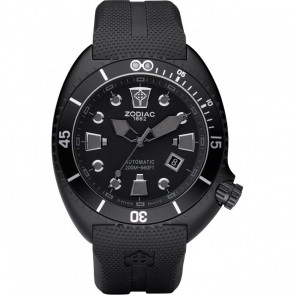 Uhrenarmband Zodiac ZO8010 Kautschuk Schwarz 24mm