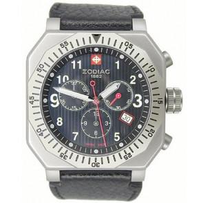 Uhrenarmband Zodiac ZO8800 Leder Schwarz 22mm