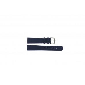 Danish Design Uhrenarmband ADDBE18 Leder Blau 18mm