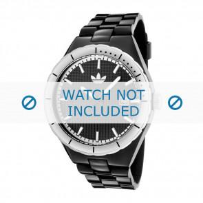 Uhrenarmband Adidas ADH2031 Silikon Schwarz 16mm