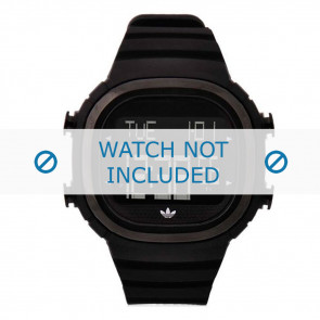 Adidas Uhrenarmband ADH2045 Silikon Schwarz 24mm