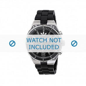 Adidas Uhrenarmband ADH2542 Kunststoff Schwarz 8mm