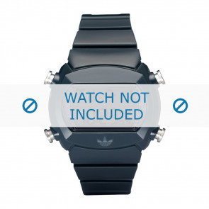 Adidas Uhrenarmband ADH6065 Silikon Blau 22mm